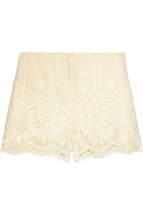 ANNA SUI Broderie anglaise cotton shorts