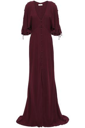 LES HÉROÏNES by VANESSA COCCHIARO Button-detailed crepe gown