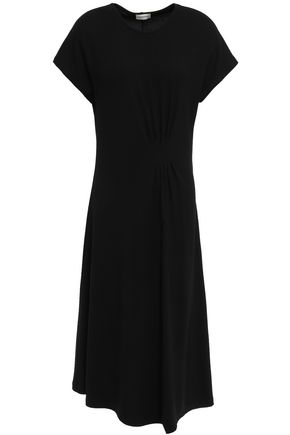 BY MALENE BIRGER Sketsy pleated ribbed-knit midi dress