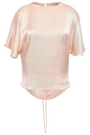 LES HÉROÏNES by VANESSA COCCHIARO Frida tie-back satin-crepe blouse
