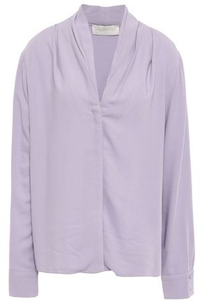 LES HÉROÏNES by VANESSA COCCHIARO Pleated crepe shirt