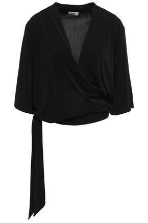 BY MALENE BIRGER Wrap-effect crepe blouse