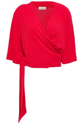 BY MALENE BIRGER Wrap-effect belted crepe top