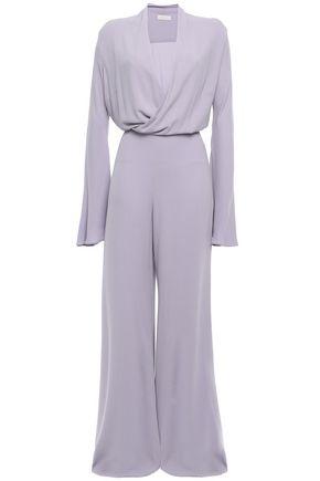 LES HÉROÏNES by VANESSA COCCHIARO Betty wrap-effect draped crepe wide-leg jumpsuit