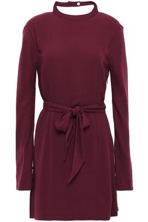 LES HÉROÏNES by VANESSA COCCHIARO Billie cutout tie-front twisted crepe mini dress