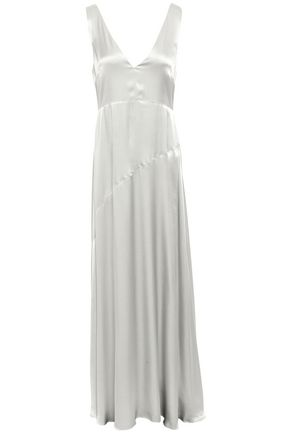 LES HÉROÏNES by VANESSA COCCHIARO Crepe-satin maxi dress