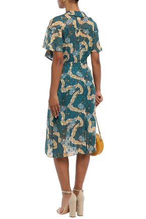 ANNA SUI Fil coupé silk-chiffon dress