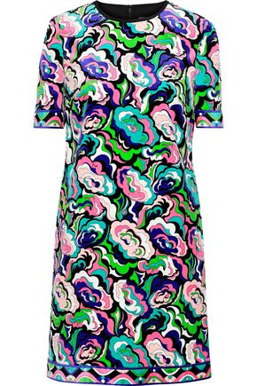 EMILIO PUCCI Printed cotton-blend velvet mini dress