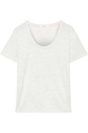 RAG & BONE Clara waffle knit-trimmed stretch-jersey T-shirt