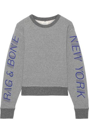 RAG & BONE New York printed cotton-blend fleece sweatshirt