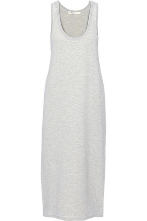 RAG & BONE Marlon mélange modal-blend jersey midi dress