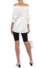 TIBI Off-the-shoulder gathered cotton-poplin blouse