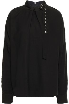 Buckled Twill Blouse by Tibi