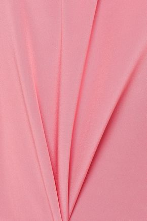 TIBI Gathered silk crepe de chine top