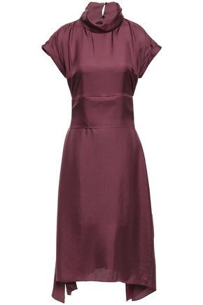 BRUNELLO CUCINELLI Silk-satin twill dress
