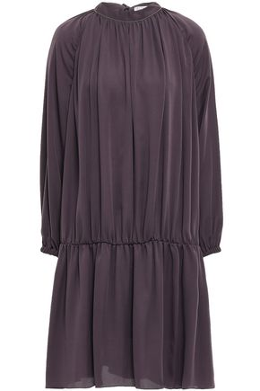 BRUNELLO CUCINELLI Bead-embellished crepe de chine dress