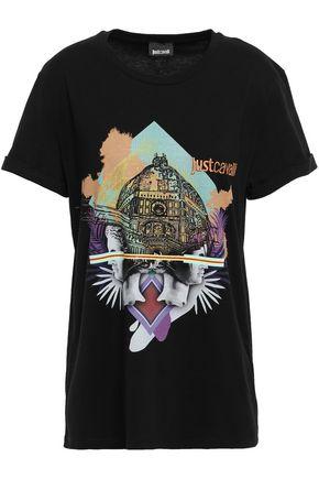 JUST CAVALLI Printed cotton-jersey T-shirt