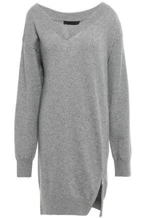ALEXANDER WANG Zip-detailed knitted mini dress