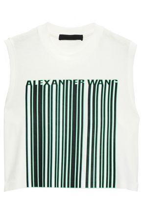 ALEXANDER WANG Cropped cotton-jersey T-shirt