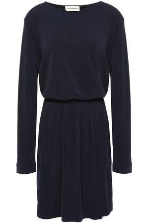 BY MALENE BIRGER Wrap-effect pleated crepe mini dress