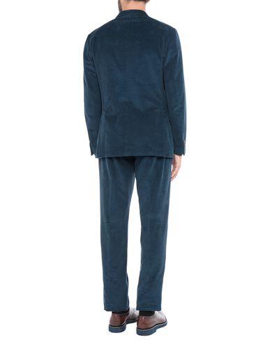 Фото 2 - Мужской костюм  грифельно-синего цвета