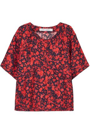 IRO Magical floral-print satin top