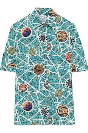 STELLA JEAN Printed cotton-poplin shirt