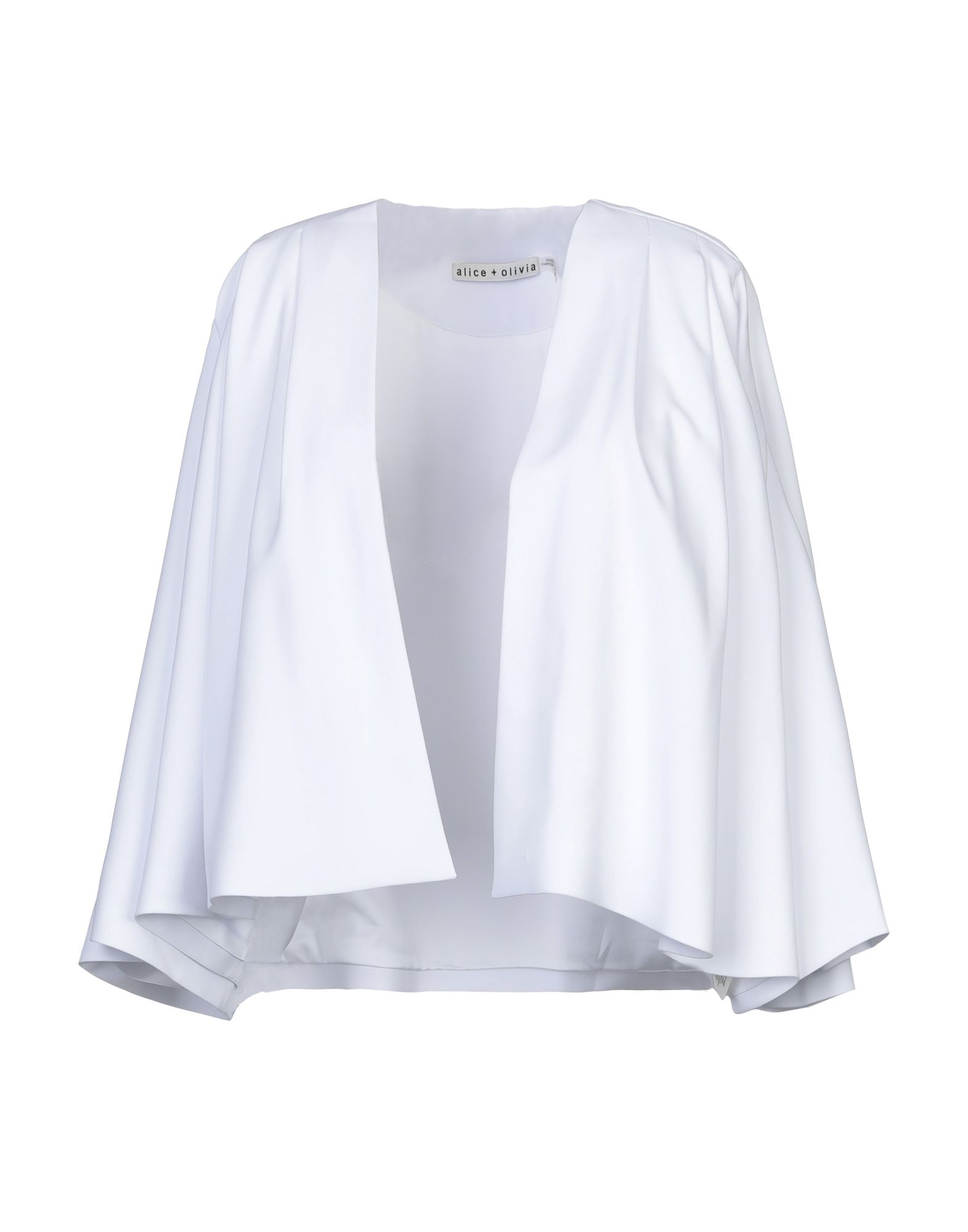 ALICE + OLIVIA Suit jackets. crepe, no appliqués, basic solid color, no pockets, deep neckline, single-breasted, 3/4 length sleeves, fully lined. 100% Polyester