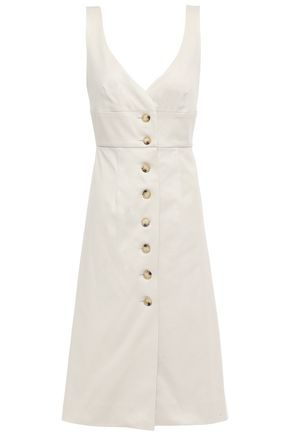 ALEXACHUNG Cotton-blend twill dress
