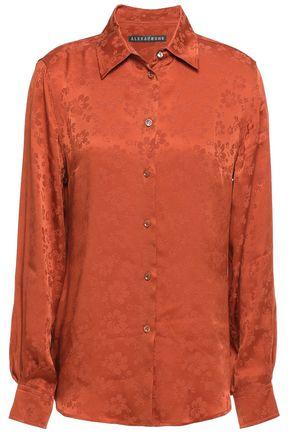 ALEXACHUNG Satin-jacquard shirt