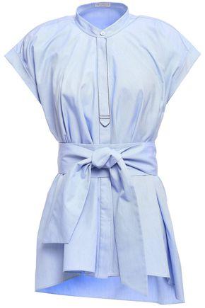 BRUNELLO CUCINELLI Bead-embellished cotton-poplin top