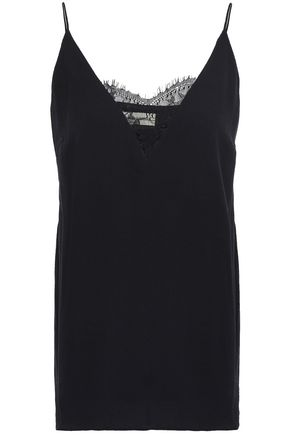 BY MALENE BIRGER Lace-trimmed crepe camisole