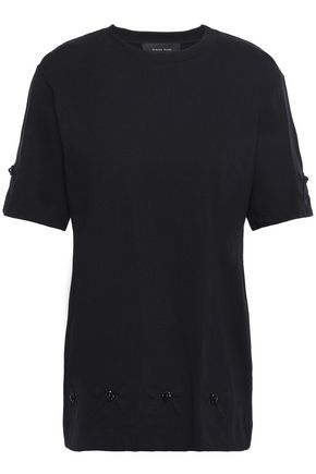 SIMONE ROCHA Faux pearl-embellished cotton-jersey T-shirt