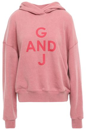 GOEN.J French cotton-terry hoodie