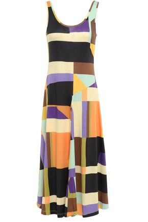 GOEN.J Color-block stretch-jersey midi dress