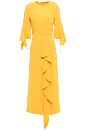 GOEN.J Ruffled draped crepe midi dress