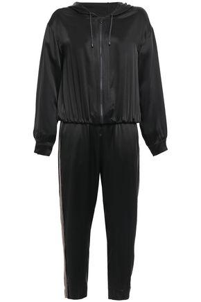 BRUNELLO CUCINELLI ビーズ付き サテン フード付きジャンプスーツ