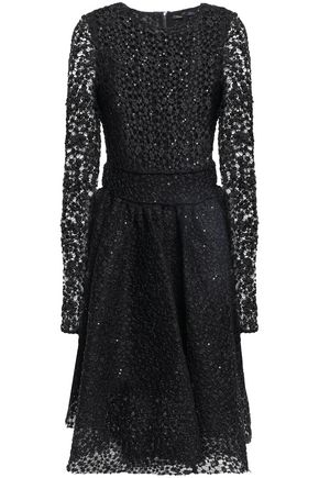 MAJE Sequin-embellished lace dress