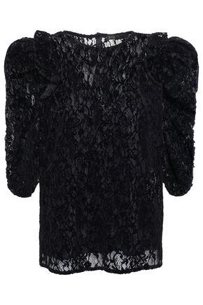 MAJE Ruffle-trimmed lace blouse