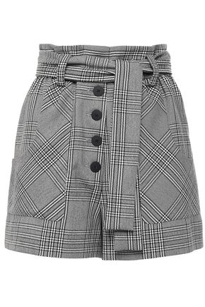 MAJE Belted woven shorts