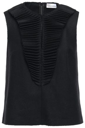 REDValentino Wool-blend felt top
