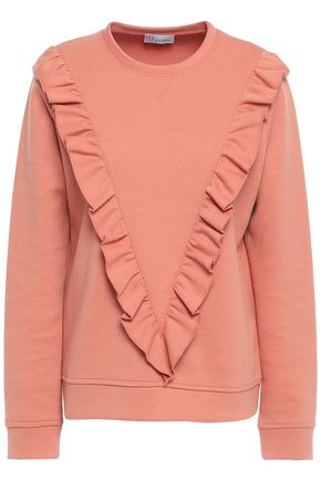 REDValentino Ruffled cotton-blend jersey sweatshirt