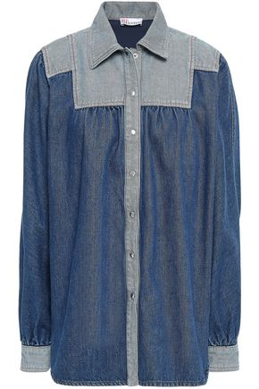 REDValentino Paneled denim shirt