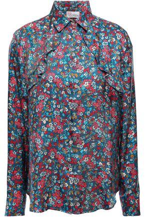 REDValentino Ruffled silk-twill shirt