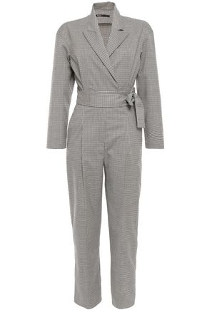 MAJE Wrap-effect belted woven jumpsuit