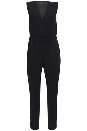 MAJE Wrap-effect crepe jumpsuit