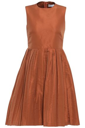 REDValentino Pleated faille mini dress
