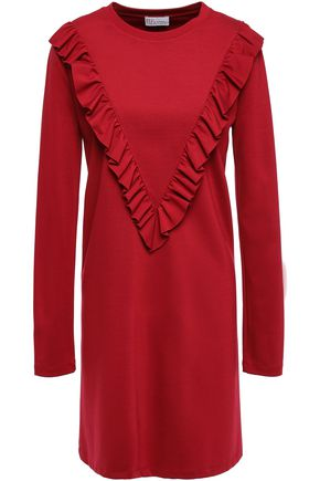 REDValentino Ruffled stretch-jersey mini dress