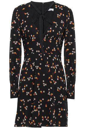 REDValentino Tie-neck silk-georgette mini dress
