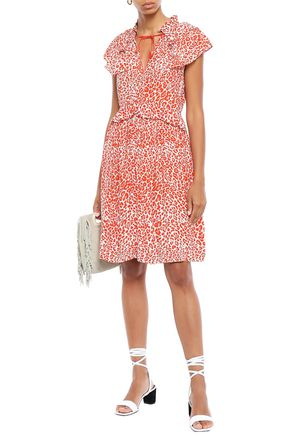 MAJE Ruffled crepe dress